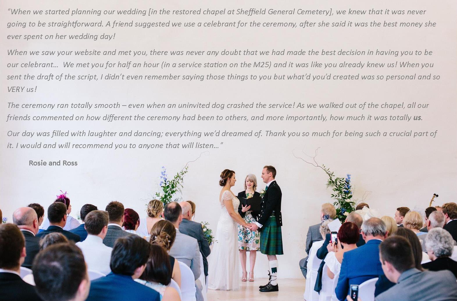 celebrant for unique wedding in the UK