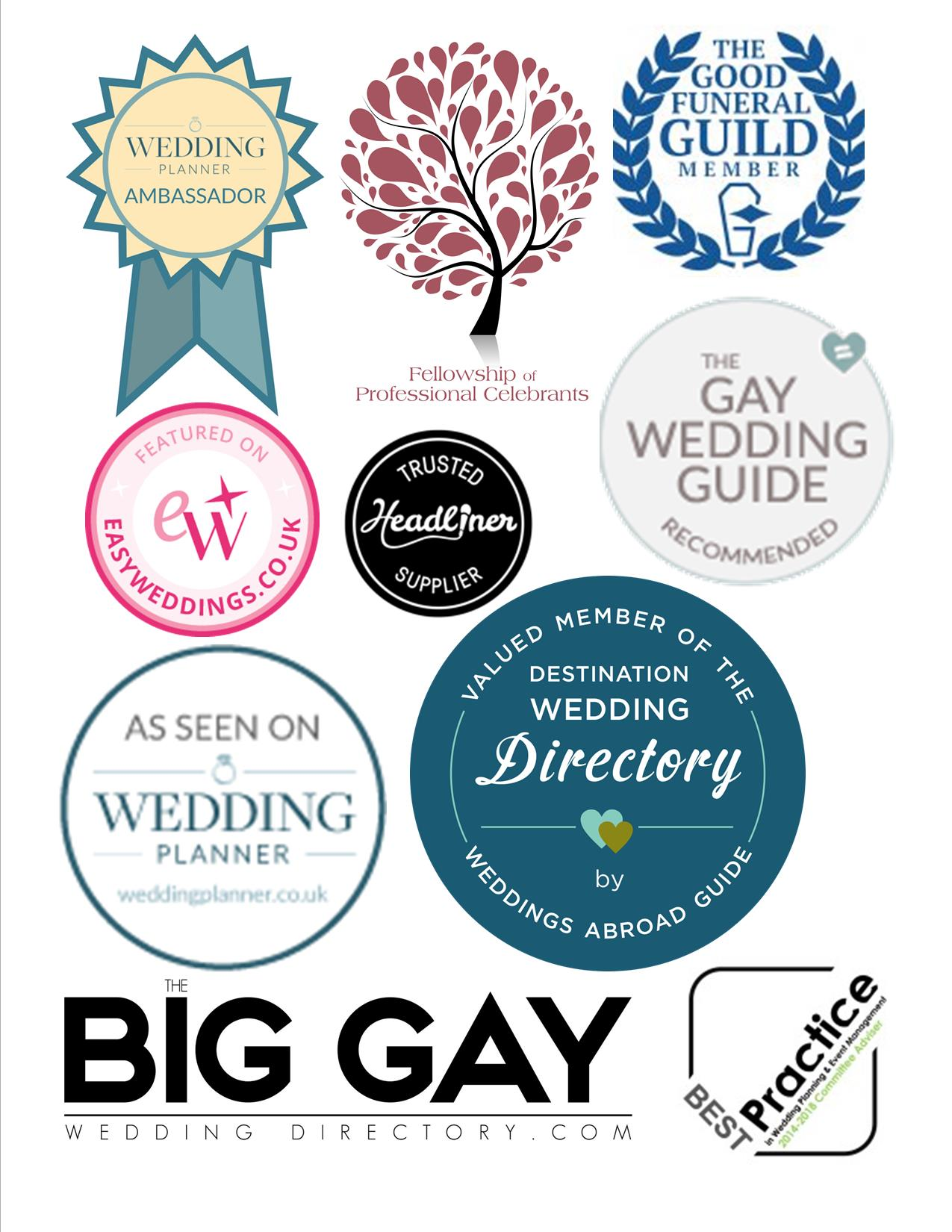 Samantha Kelsie is proud to be in partnership with the top UK and Destination Wedding Directories