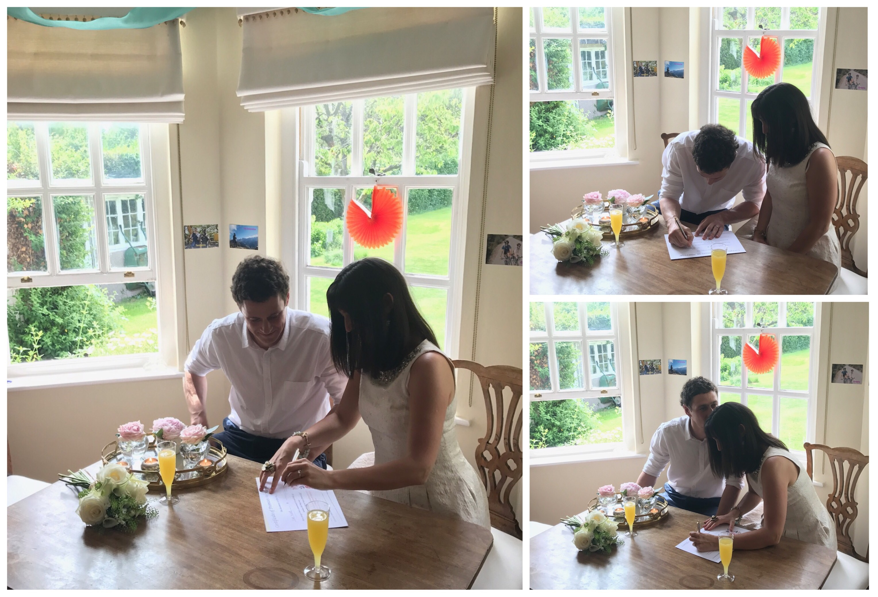Claire and Dave's Intimate Garden Surprise Wedding Ceremony in Beaconsfield Samantha Kelsie Celebrant