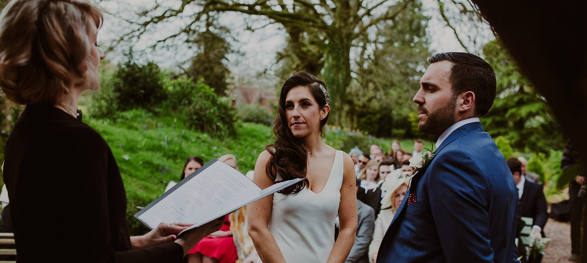 Lara and Ben gatsby wedding blessing huntsham court devon celebrant