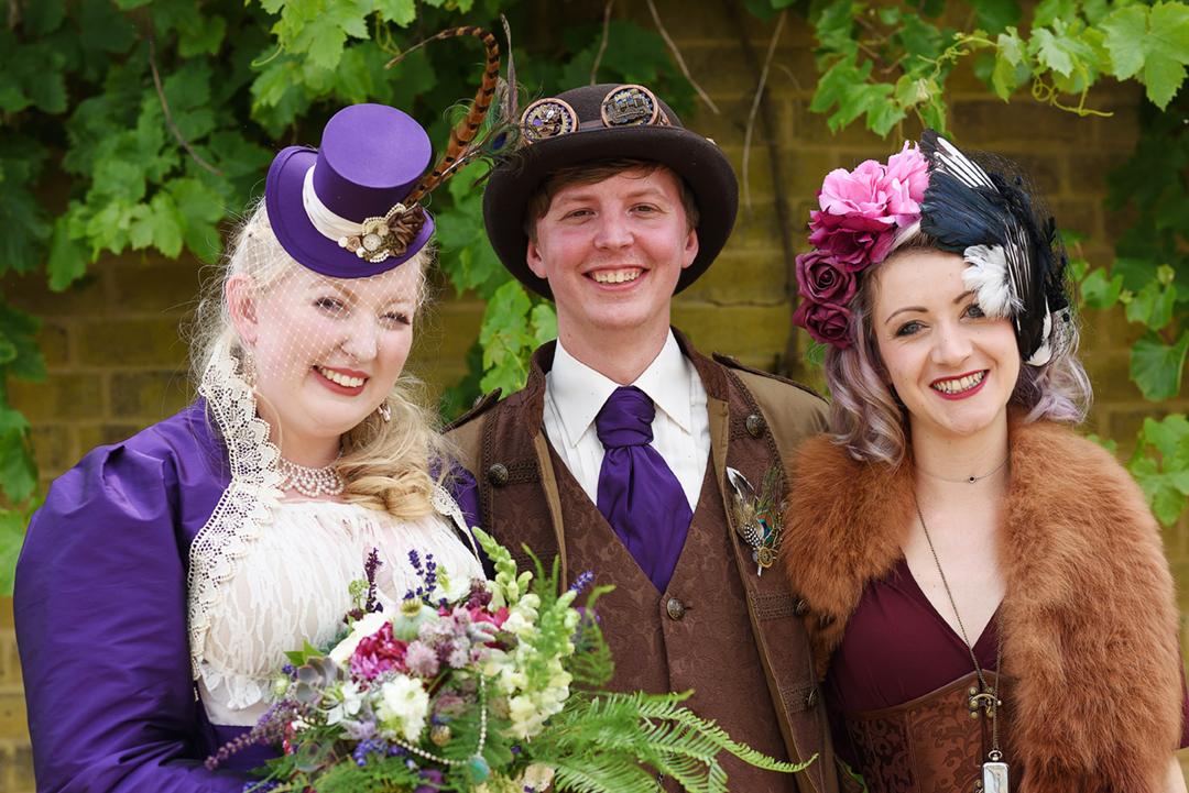 Steampunk Wedding ceremony celebrant handfasting Wilobe Farm Cambridgeshire