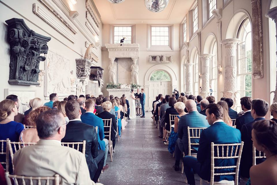 Celebrant for Wedding Ceremony at Aynhoe House -unique wedding venue - Jessica Raphael Photography