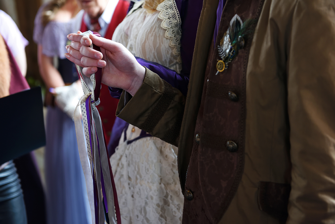 Pagan hand fasting ceremony