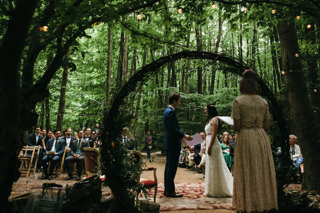 Woodland Ceremony Simon Biffen Photography The Dreys Kent